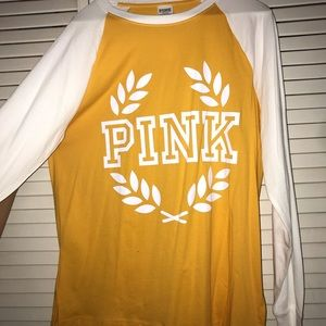 yellow pink brand long sleeve